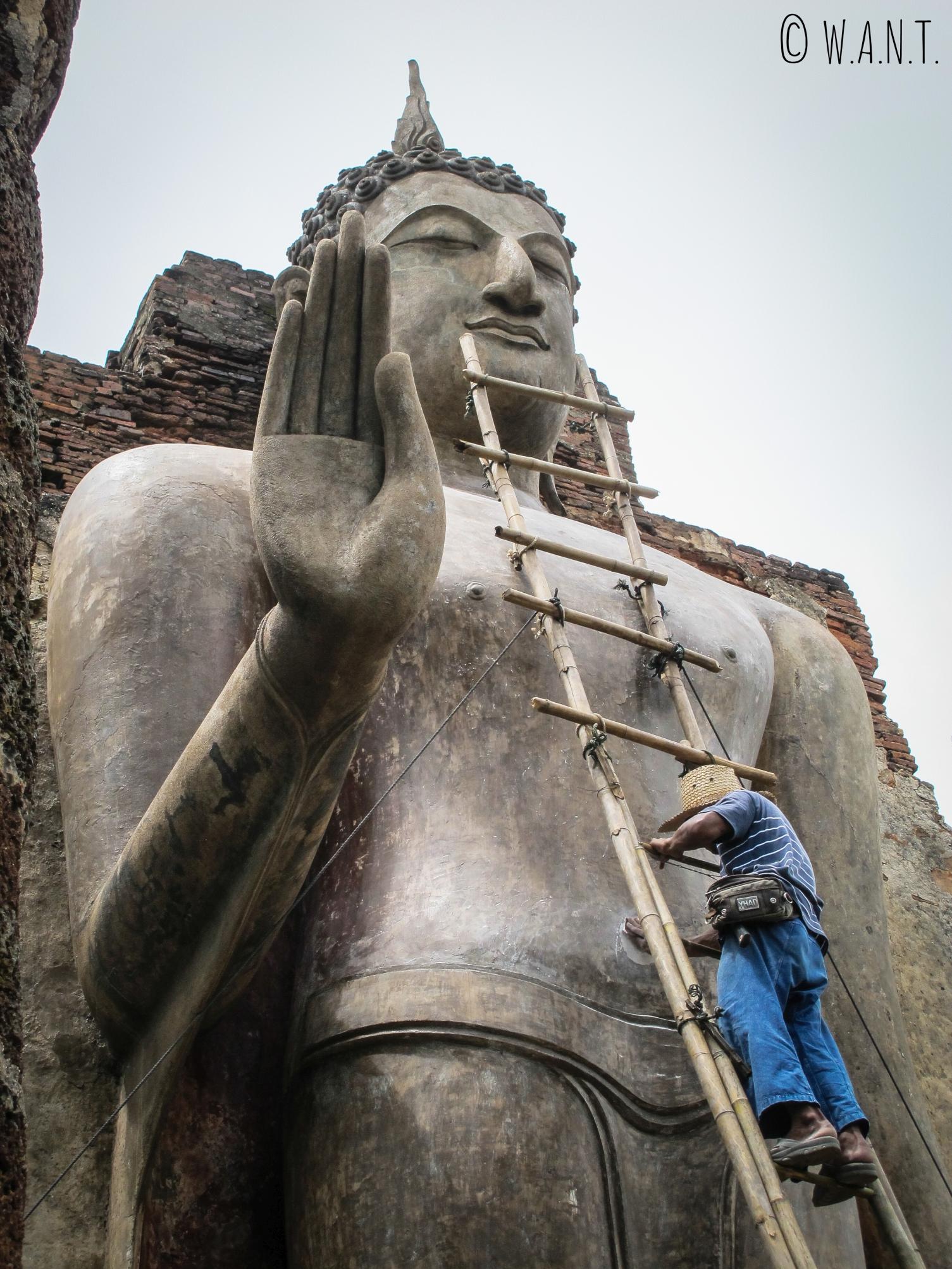 Le Wat Saphan Hin de la zone ouest est encore en rénovation