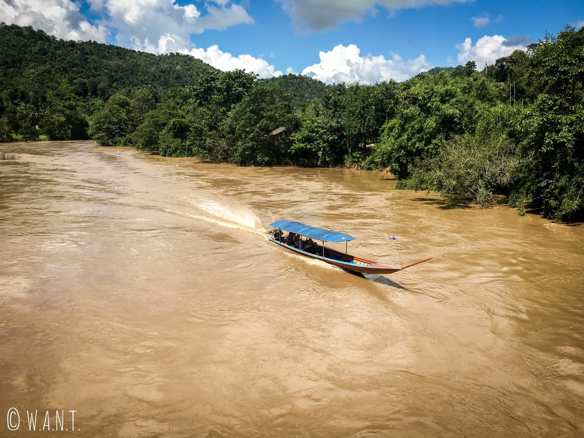 Long Boat sur la Kok river de Chiang Rai