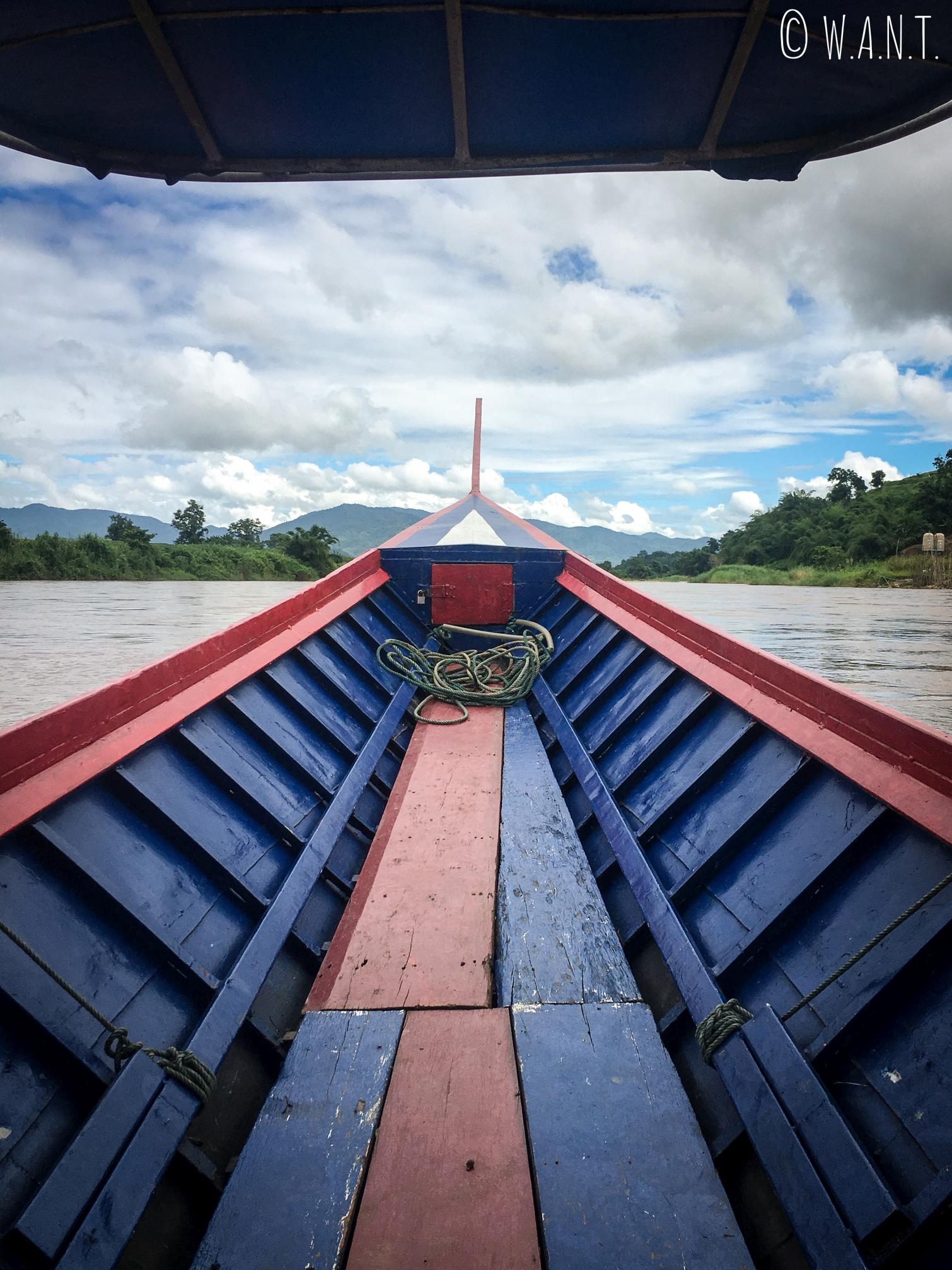Long boat sur la Kok river à Chiang Rai