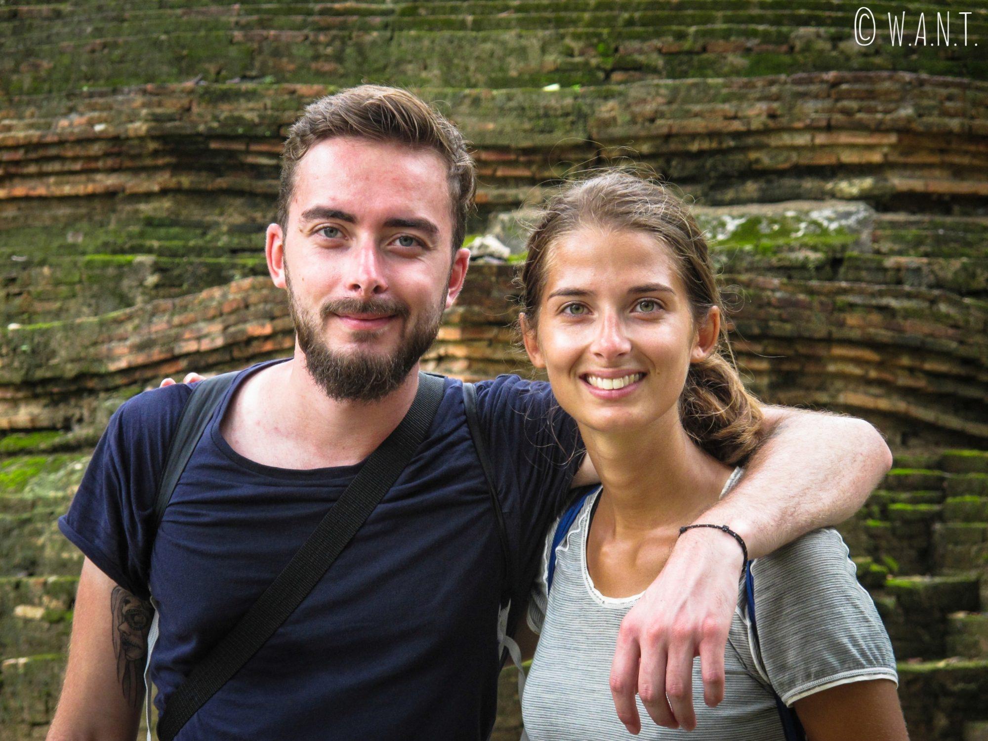 Marion et Thomas au parc historique de Sukhothai