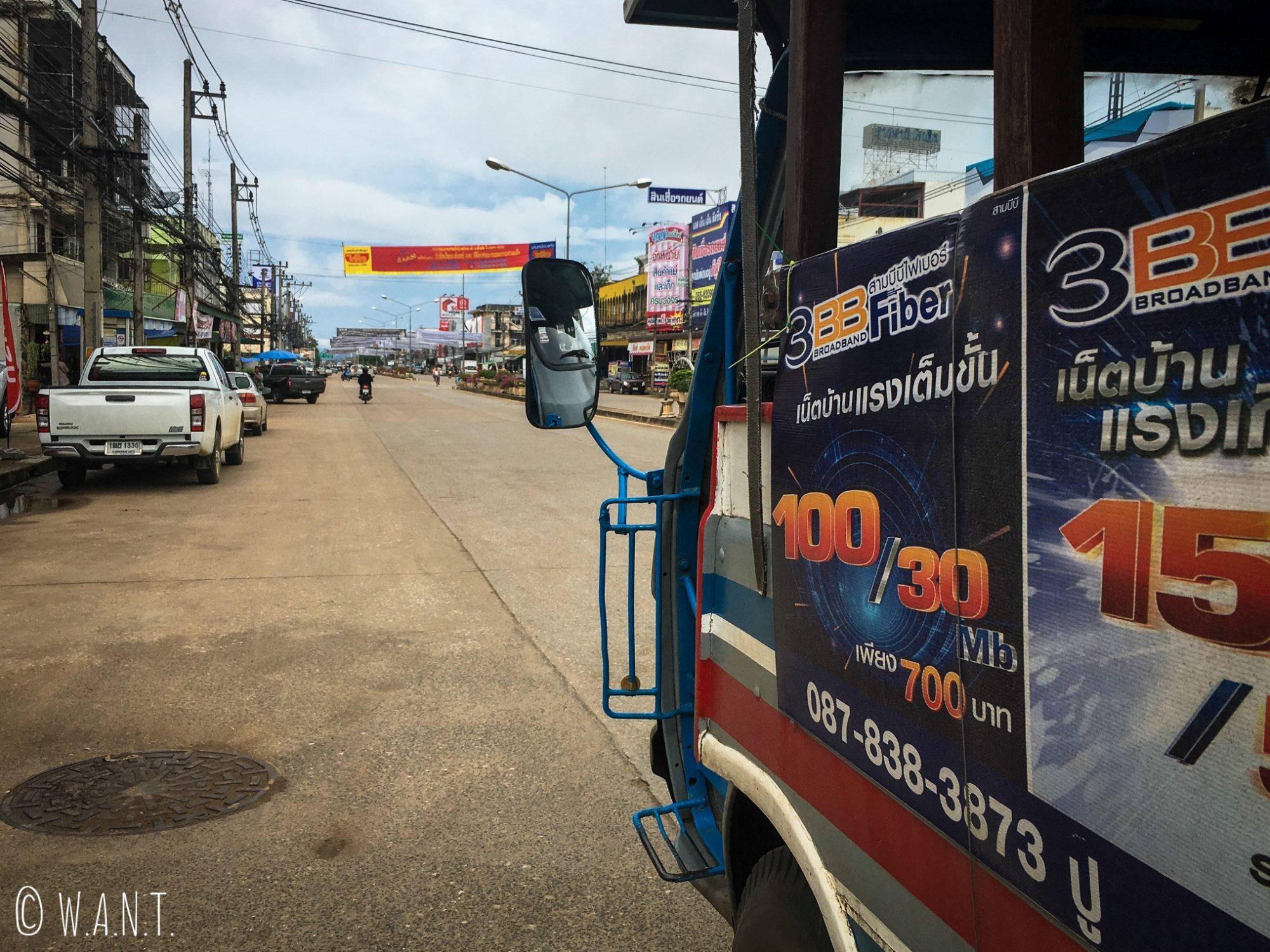 Navette nous conduisant de New Sukhothai à Old Sukhothai
