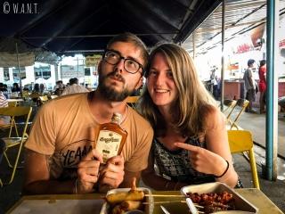 Nous avons fait goûter le SangSom à Margaux et Thomas pendant leur séjour à Chiang Rai