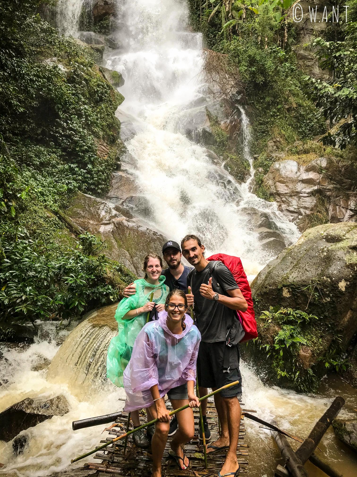 Nous sommes montés jusqu'à la cascade Huay Kaew durant notre trek à Chiang Rai