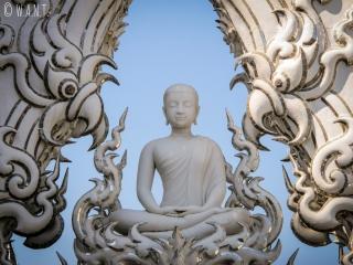 Ornement blanc du White Temple de Chiang Rai