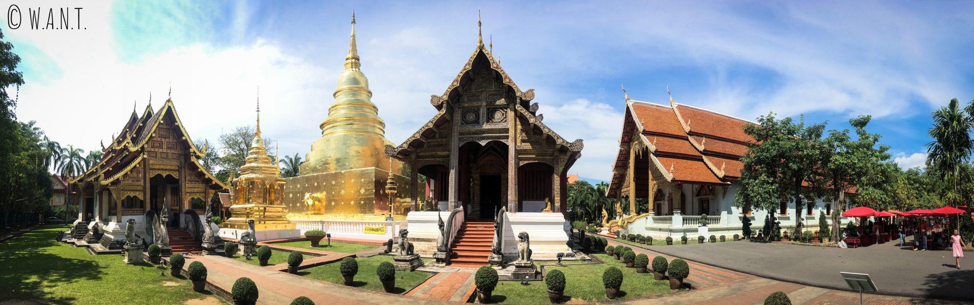Panorama du Wat Phra Singh de Chiang Mai