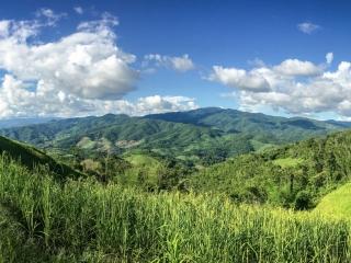 Panorama magnifique au nord de Chiang Rai
