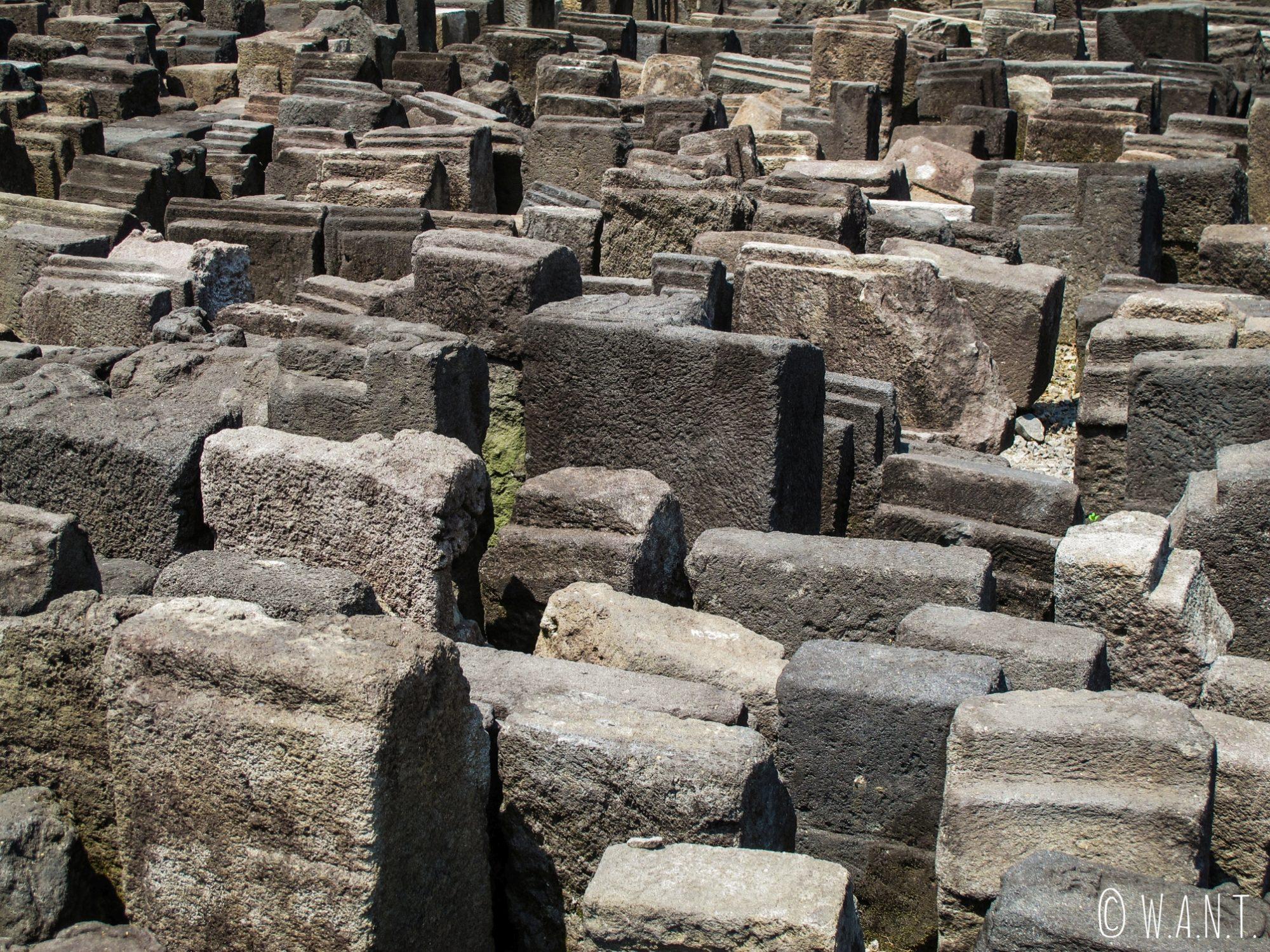 Pierres du temple de Borobudur