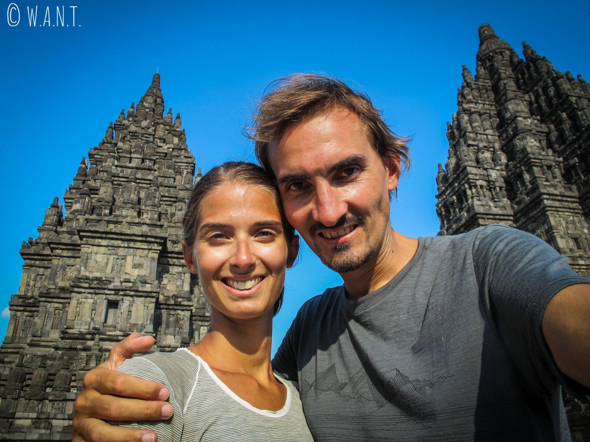 Selfie au temple de Prambanan