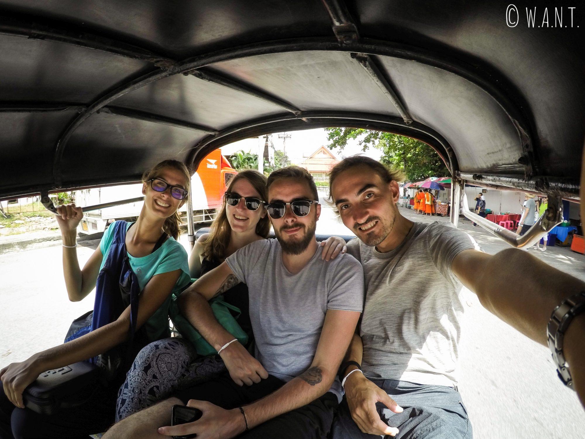 Selfie dans un tuk-tuk à Chiang Mai