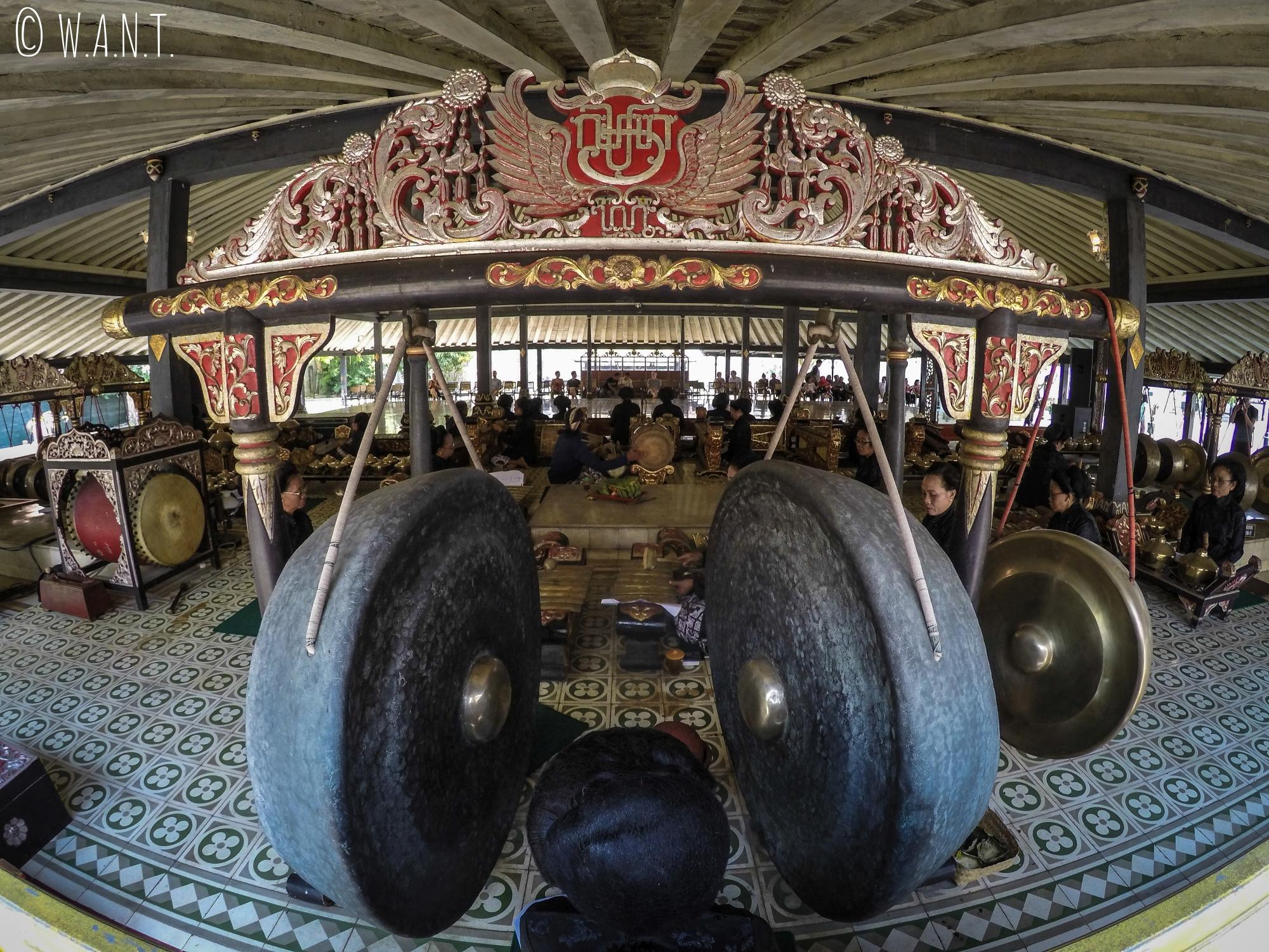 Spectacle de musique javanaise au Palais du Sultan de Yogyakarta