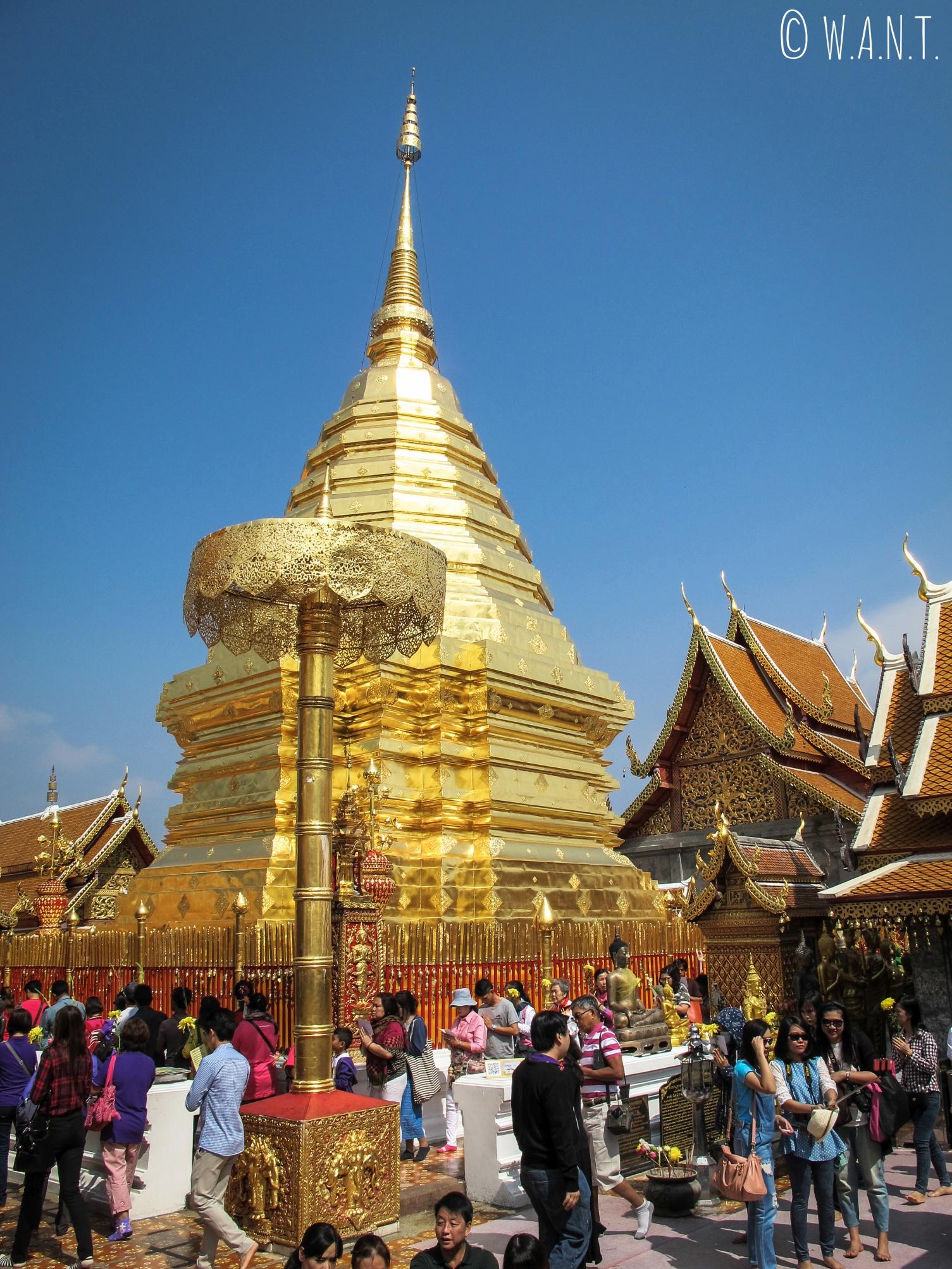 Stupa du Wat Phrathat Doi Suthep à Chiang Mai