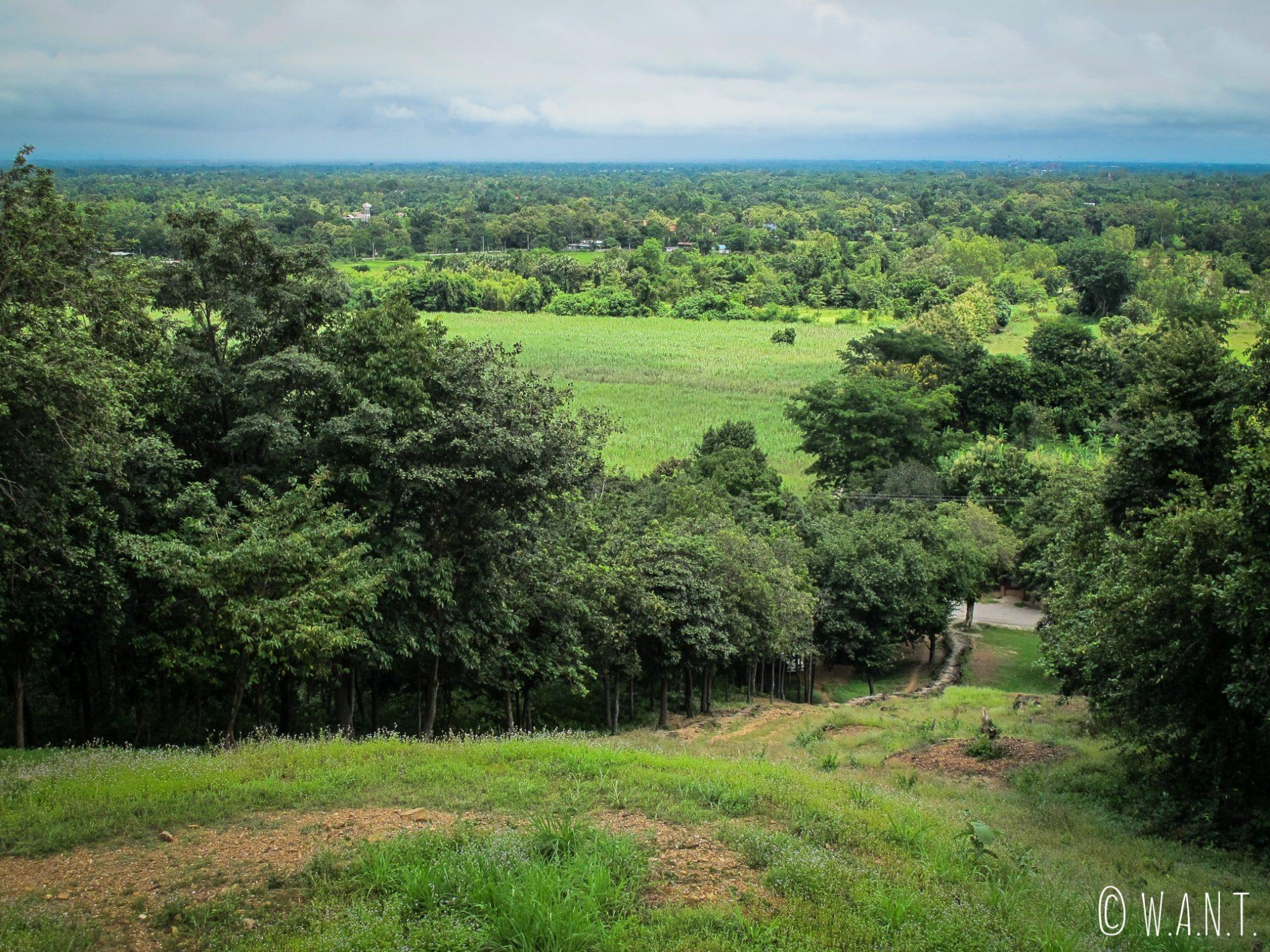 Vue sur Sukhothai depuis le Wat Saphan Hin