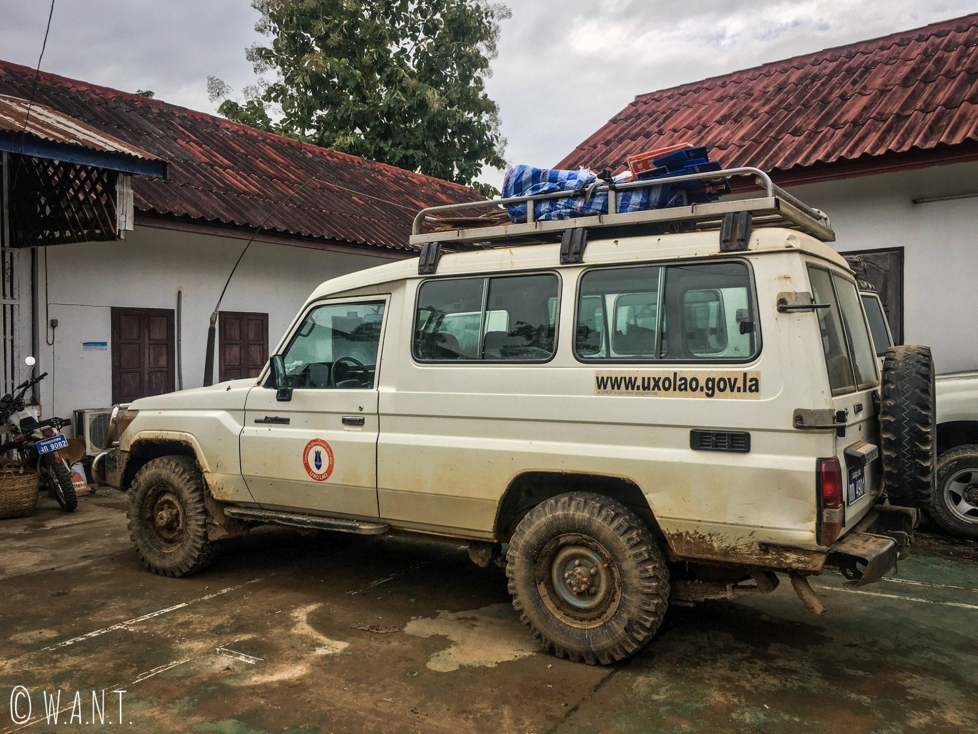 4x4 du UXO Lao Centre de Luang Prabang
