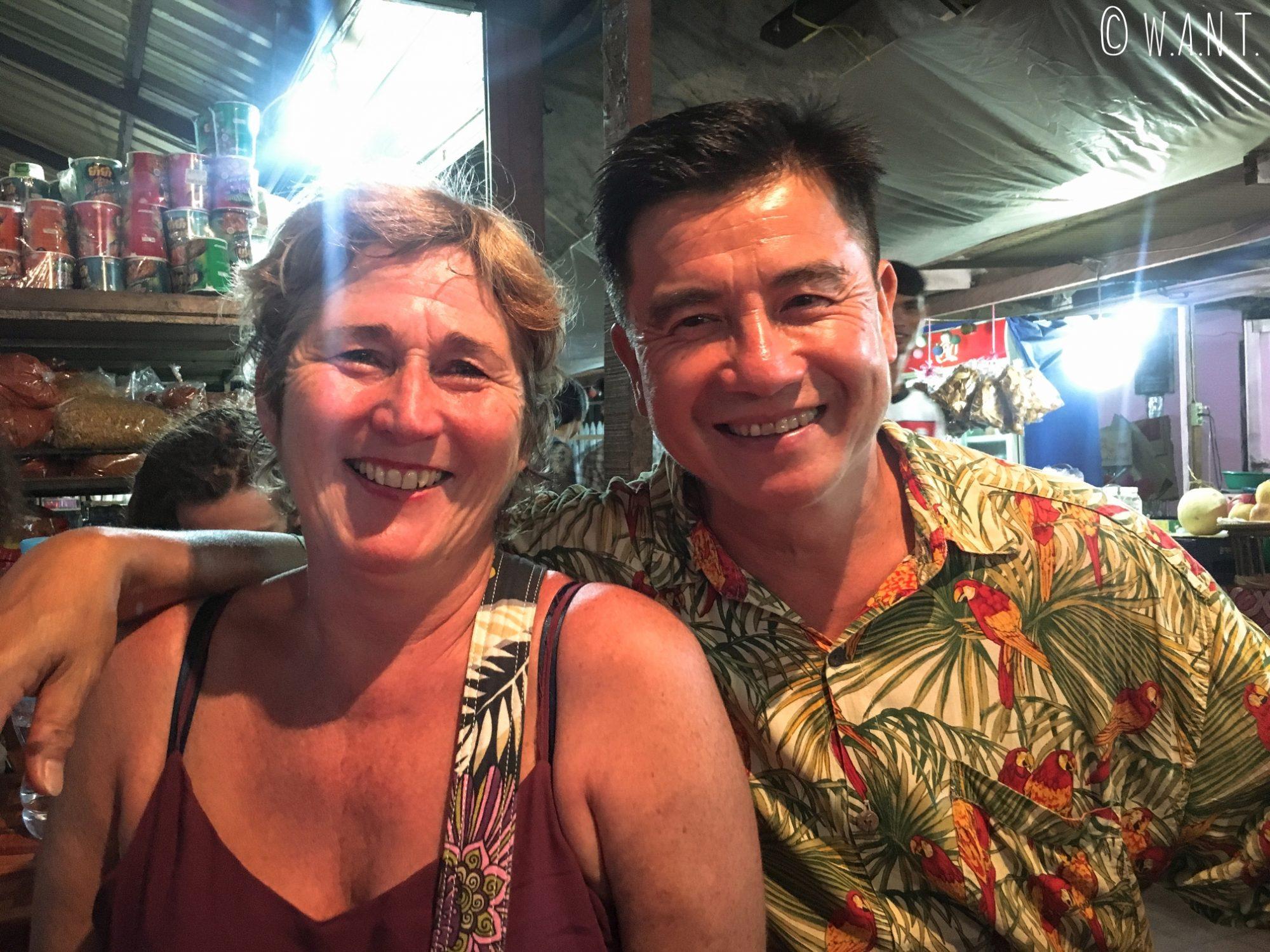 Agnès et Jilles, rencontrés dans le bus de Luang Namtha