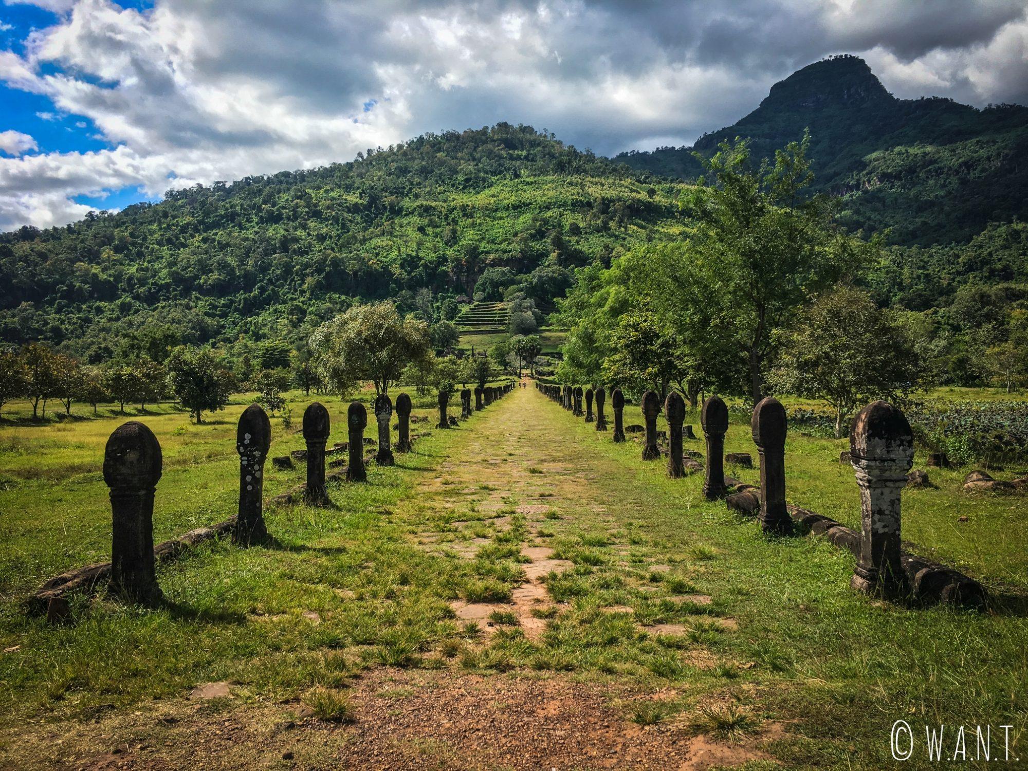 Allée centrale menant au site de Vat Phou