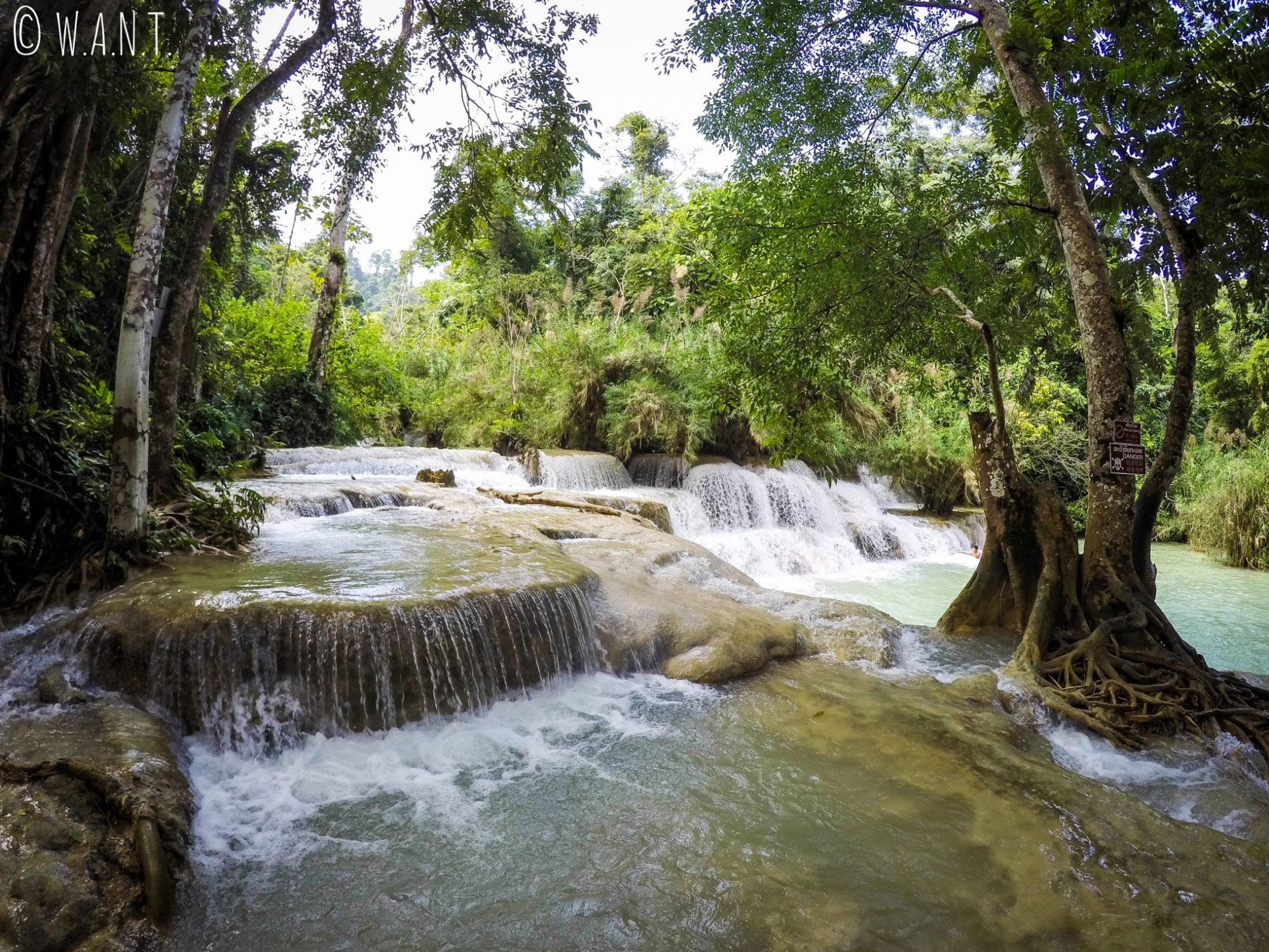 Bassin inférieur de la cascade Kuang Si de Luang Prabang