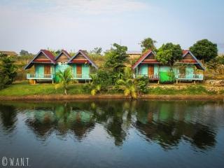 Bungalows de la Phosy guesthouse à Tha Lang durant la boucle de Thakhek