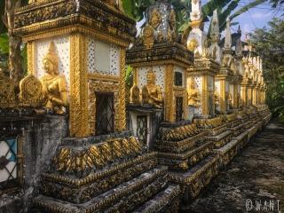 Clôture du Wat Si Sou de Vang Vieng