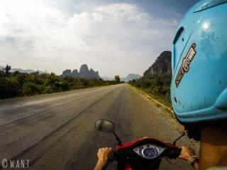 En route pour la boucle de Thakhek