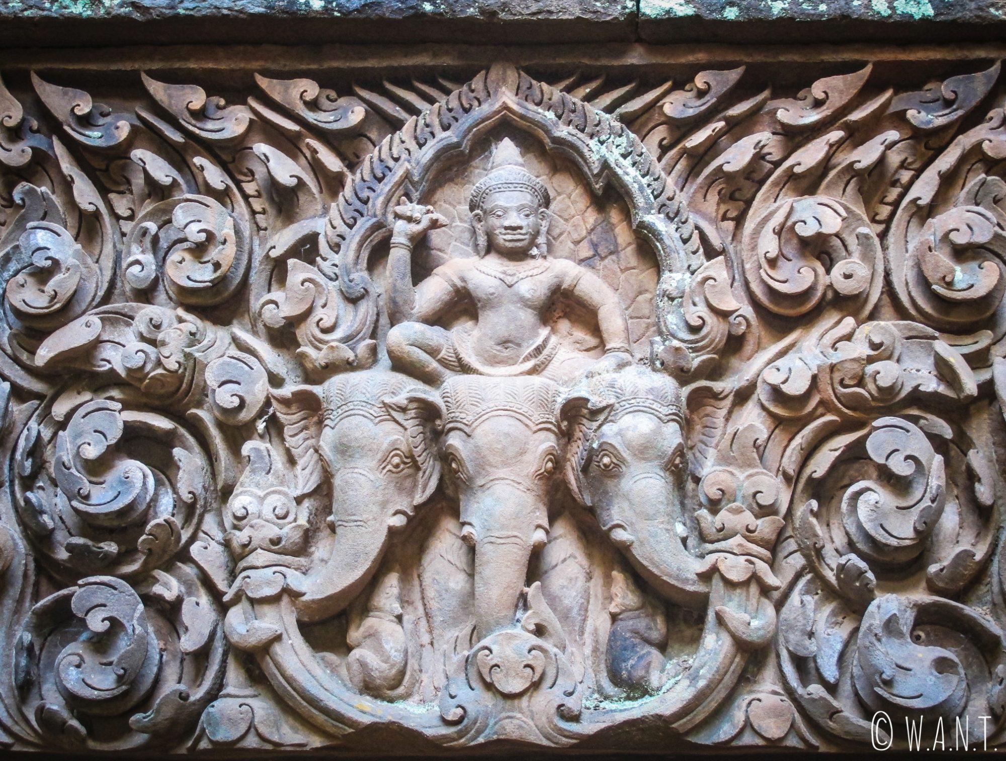 Fronton sculpté du temple de Vat Phou