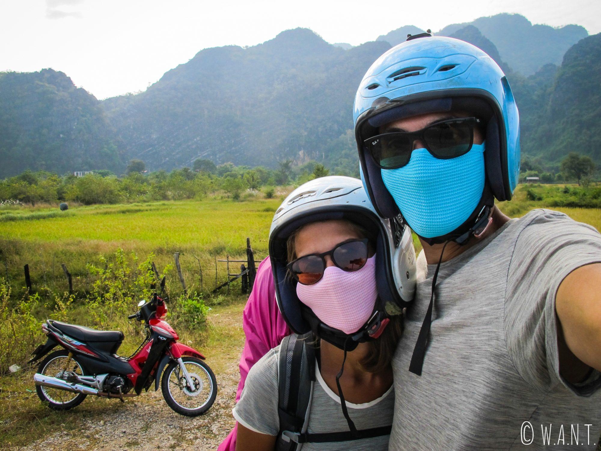 Nous sommes équipés pour réaliser la boucle de Thakhek en moto