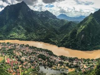 Panorama depuis le point de vue Nang None de Nong Khiaw