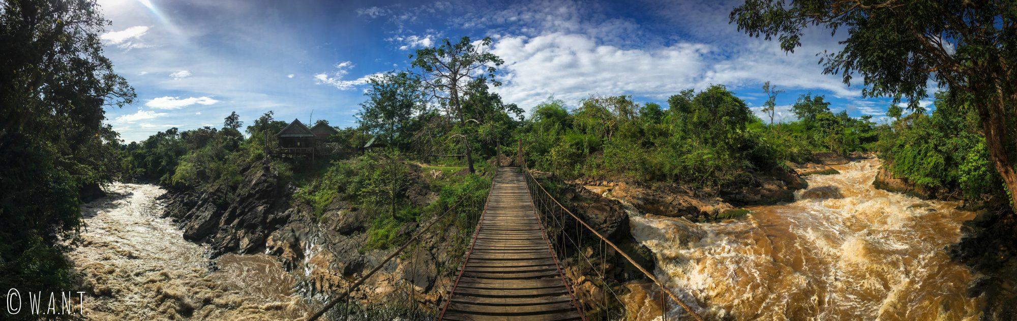 Panorama depuis le pont suspendu de l'île de Don Khon