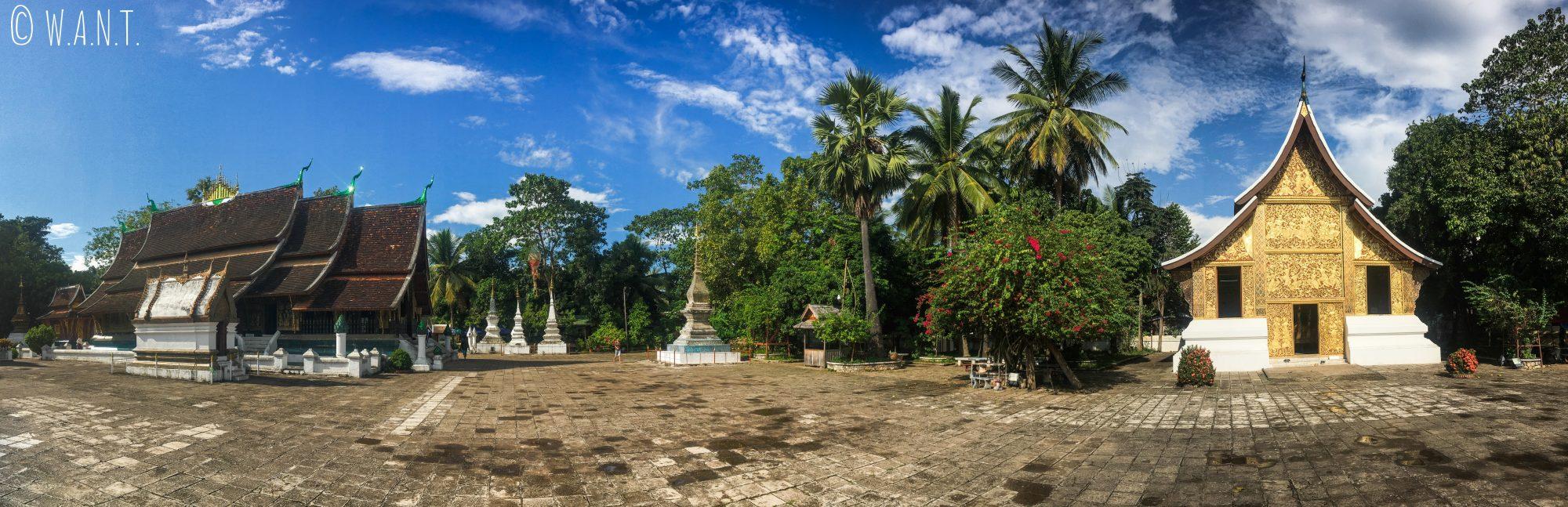 Panorama du Vat Xieng Thong de Luang Prabang