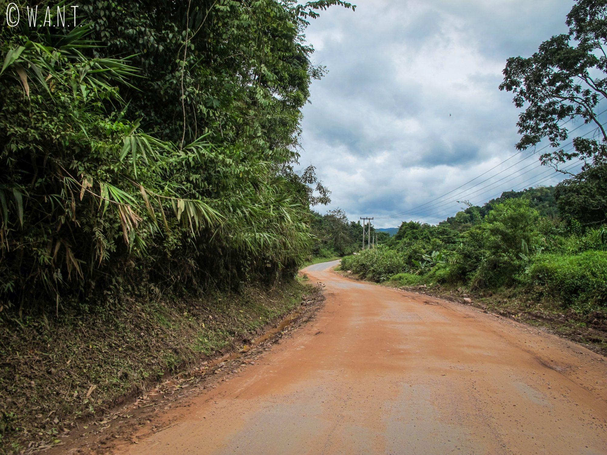 Portion de route entre Luang Namtha et Muang Sing