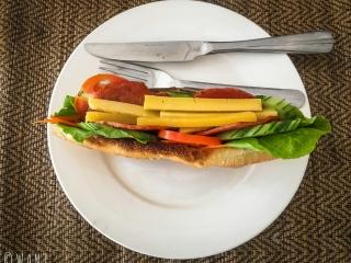Sandwich du Farsai restaurant sur l'île de Don Khon