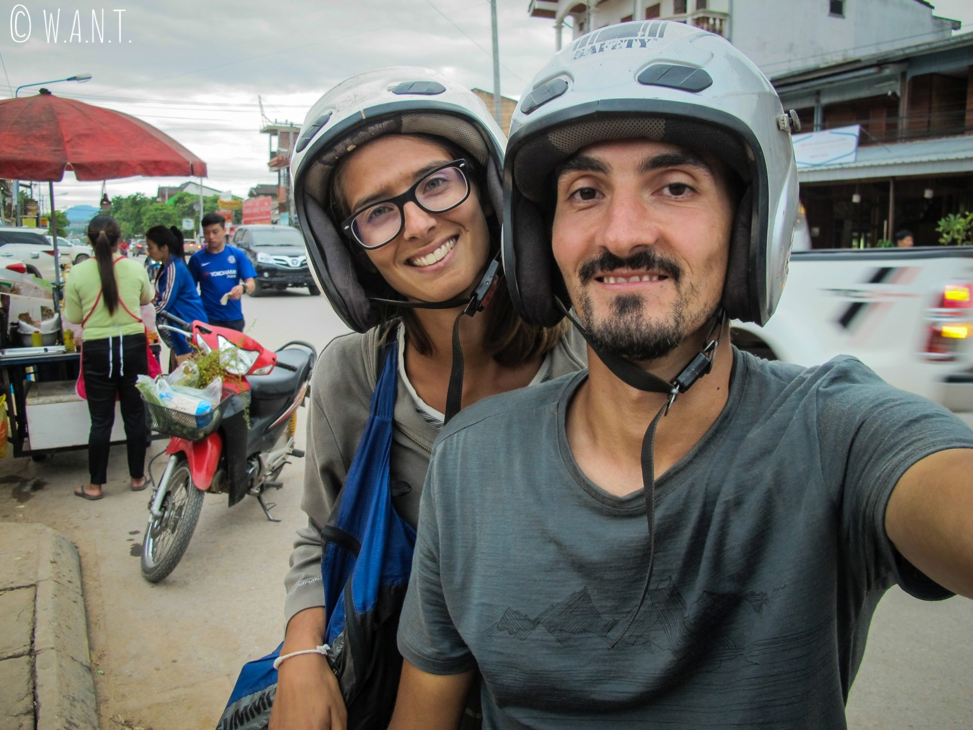Selfie lors de notre escapade à Muang Sing