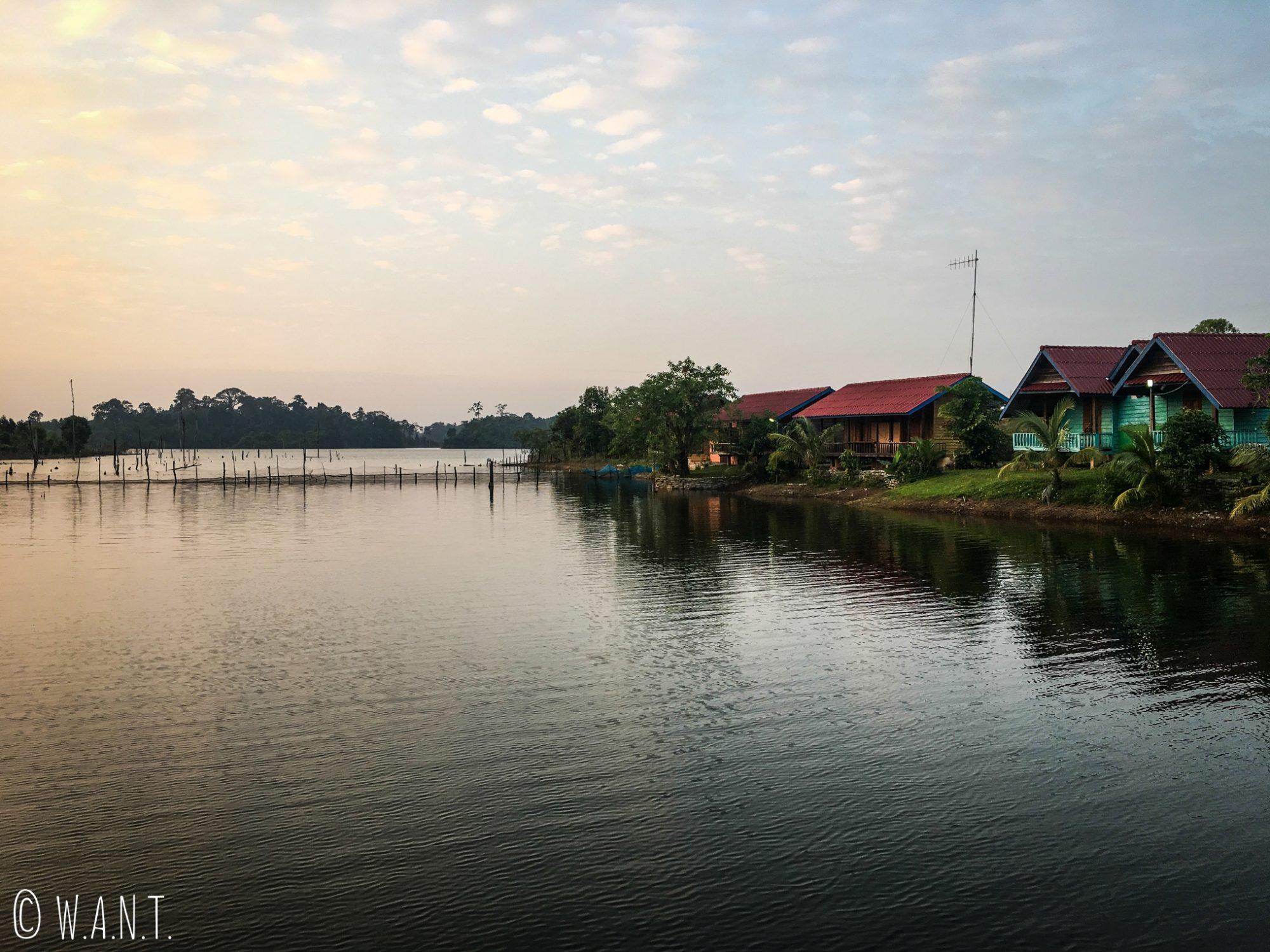 Vue depuis la Phosy guesthouse de Tha Lang sur la boucle de Thakhek