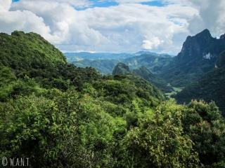 Vue sur la végétation depuis le point de vue Ban Sop Houn à Nong Khiaw