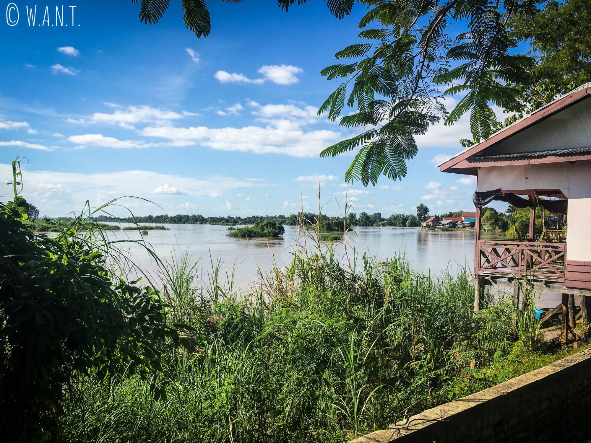Vue sur le Mékong depuis l'île de Don Det