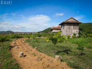 Accès à la plantation de poivre de Kampot que nous avons visitée