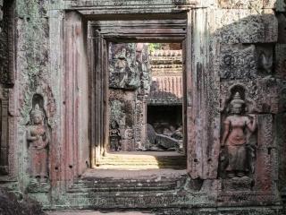 Alignement de portes au temple Preah Khan à Angkor