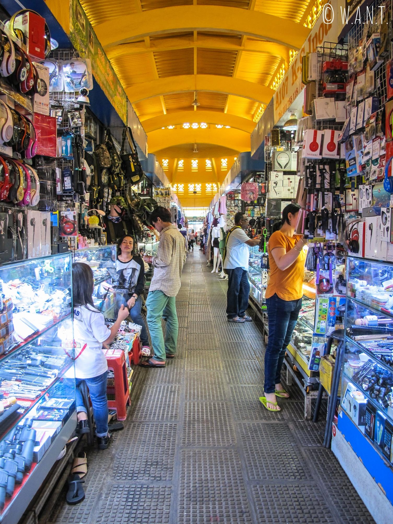 Allée du Marché Central de Phnom Penh