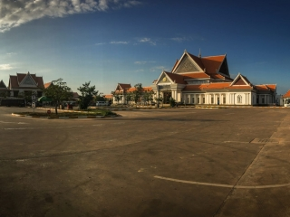 Bâtiments où son vendus les pass pour accéder au site archéologique d'Angkor
