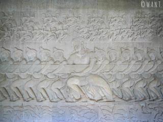 Bas-reliefs d'Angkor Wat à Siem Reap