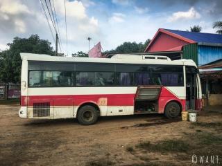 Bus nous conduisant de Phnom Penh à Kep
