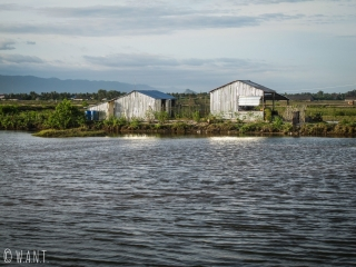Cabanes dans les marais salants de Kampot
