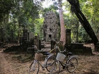 Chapel of Hospital sur le site archéologique d'Angkor
