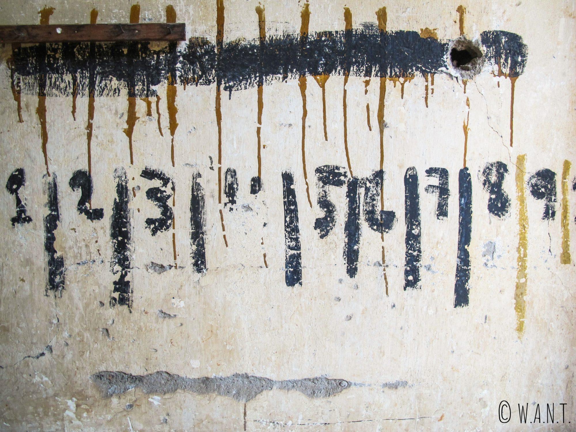 Emplacement pour les clés des cellules de S-21 à Phnom Penh