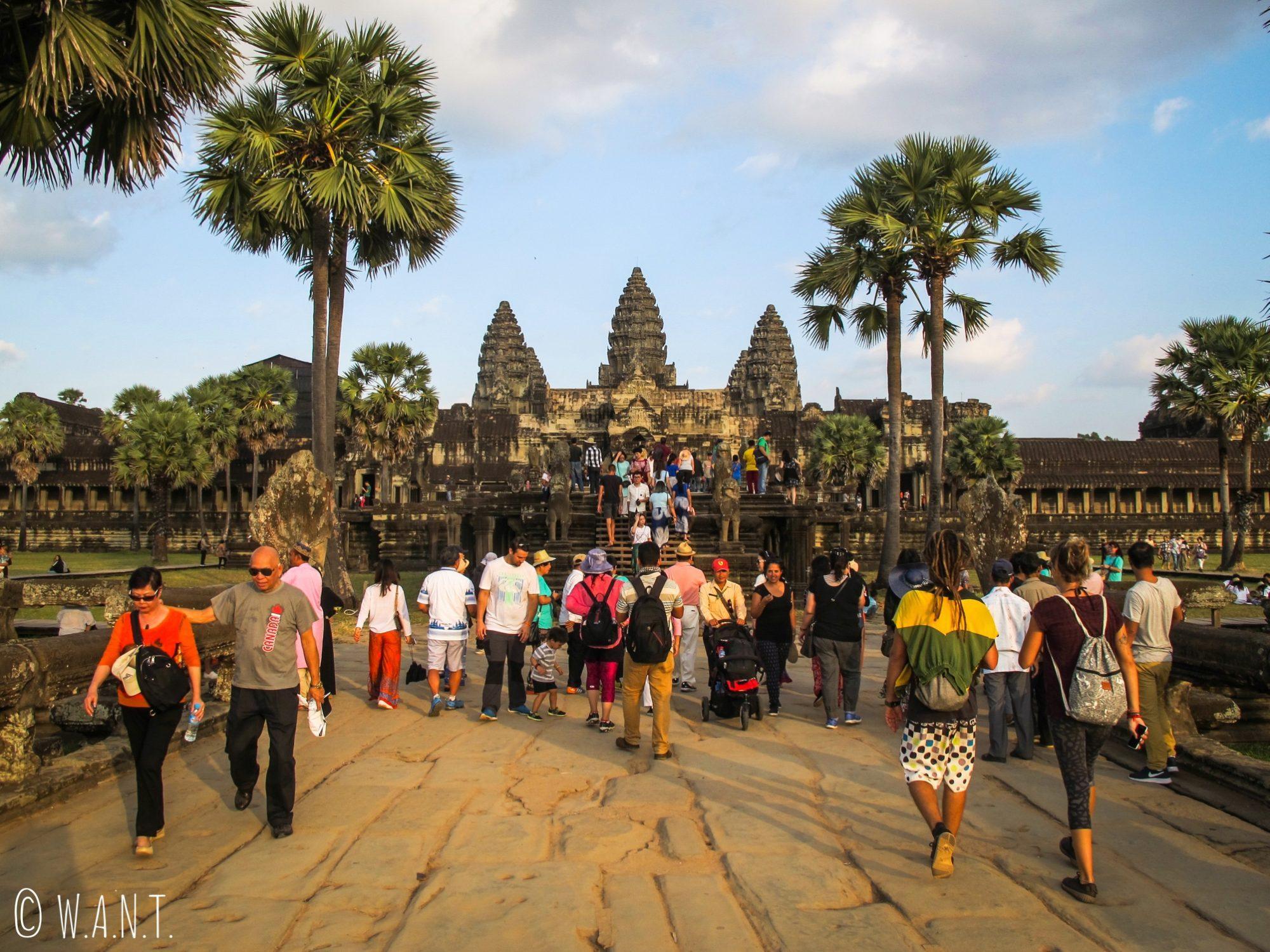 Forte fréquentation à Angkor Wat pour le coucher de soleil