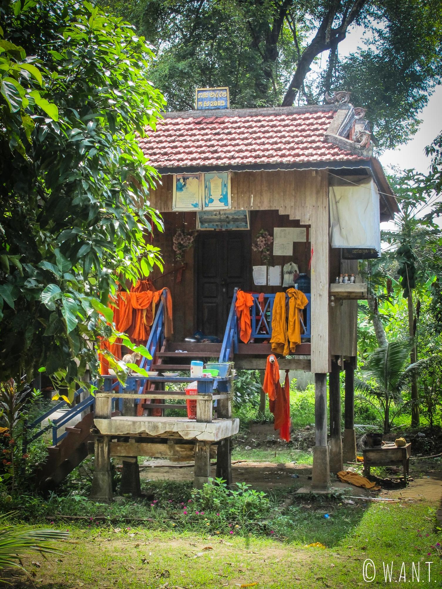 Habitation d'un moine dans un monastère près de Kampi