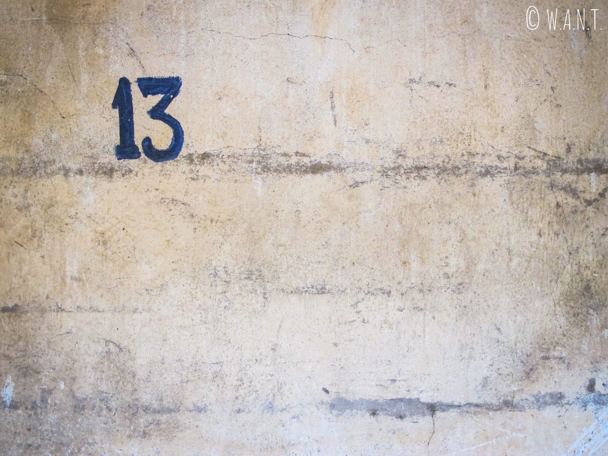 Numéro de cellule de la prison S-21 à Phnom Penh