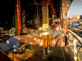 Panorama depuis le Temple Club sur Pub Street à Siem Reap
