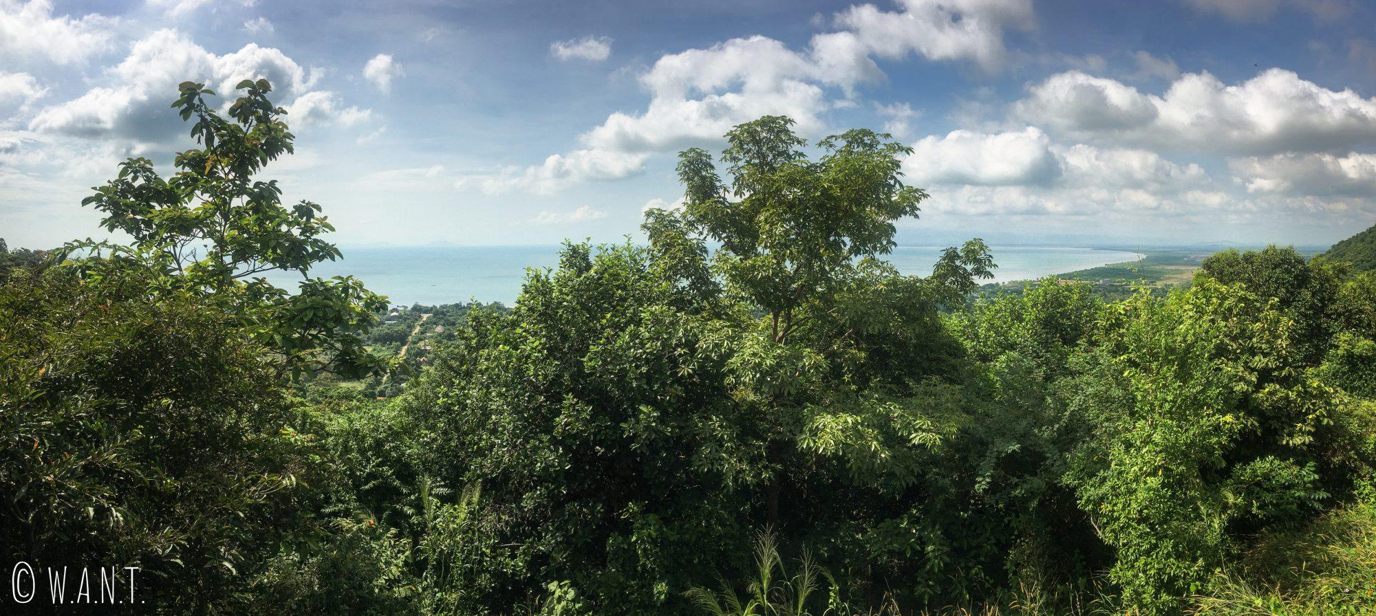Panorama depuis le premier point de vue du Parc National de kep