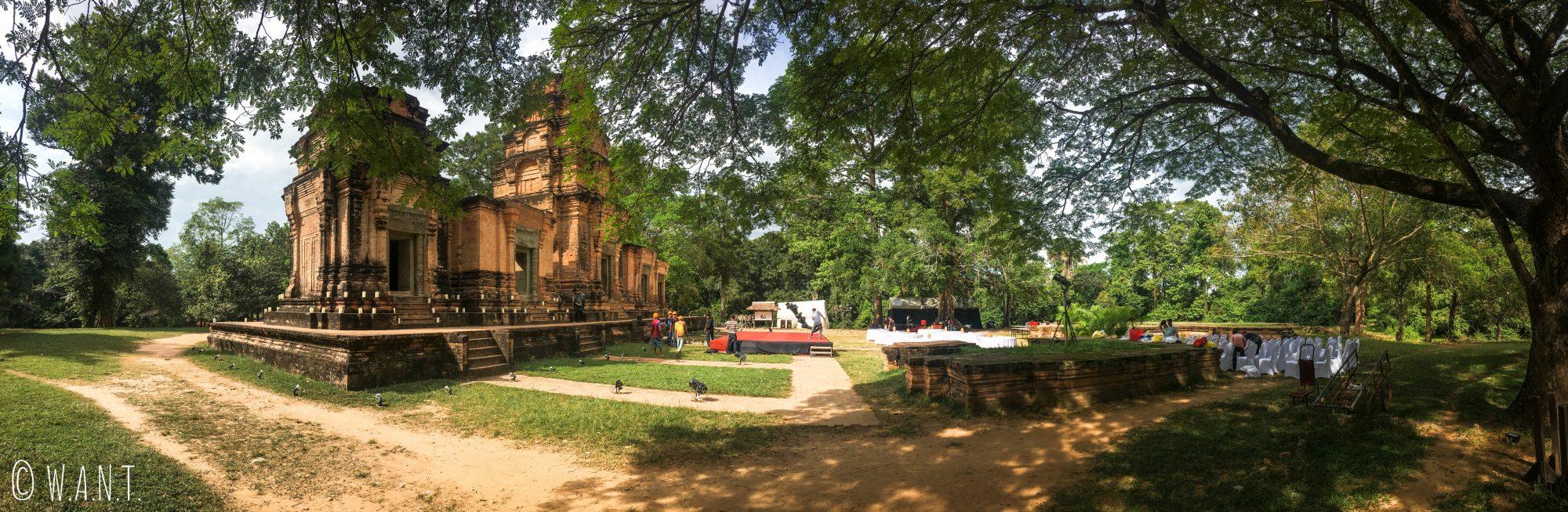 Panorama du temple Prasat Kravan sur le site archéologique d'Angkor