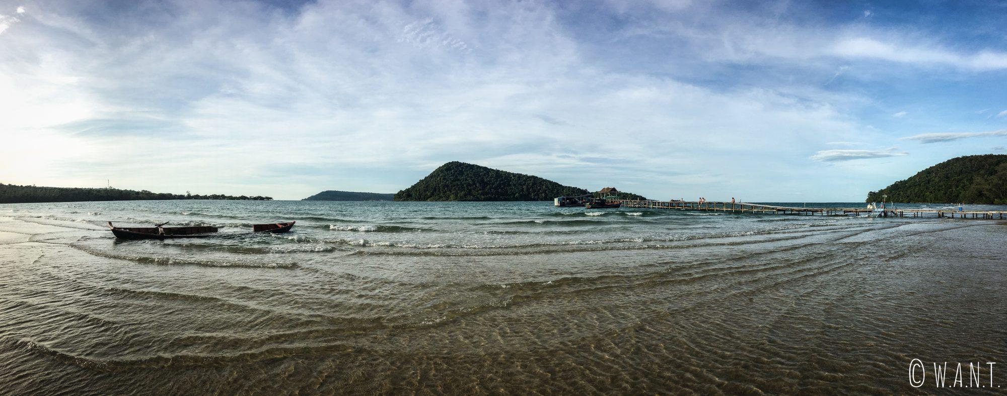 Panorama sur la plage proche de M'Pai Bay